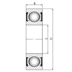 100 mm x 180 mm x 34 mm  Loyal 6220 ZZ deep groove ball bearings