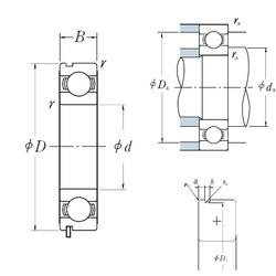 100 mm x 180 mm x 34 mm  NSK 6220N deep groove ball bearings