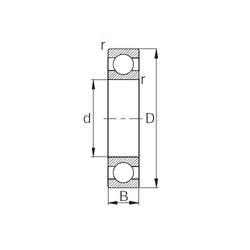 100 mm x 180 mm x 34 mm  CYSD 6220 deep groove ball bearings