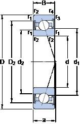 90 mm x 140 mm x 24 mm  SKF S7018 ACE/HCP4A angular contact ball bearings