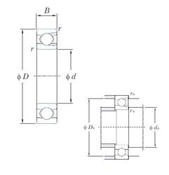 100 mm x 180 mm x 34 mm  KOYO M6220 deep groove ball bearings