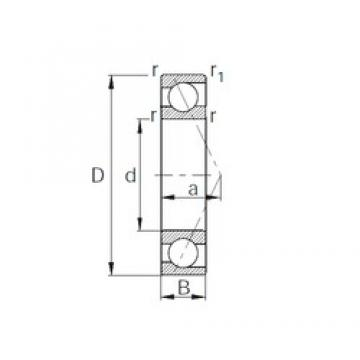 100 mm x 180 mm x 34 mm  CYSD 7220B angular contact ball bearings