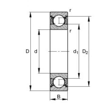 55 mm x 72 mm x 9 mm  FAG 61811-2Z-Y deep groove ball bearings