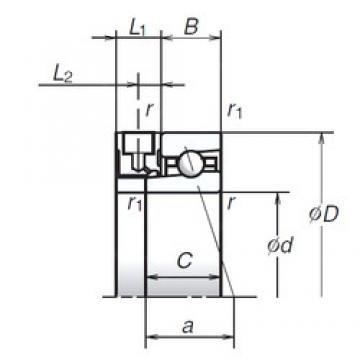 110 mm x 150 mm x 20 mm  NSK 110BER19XE angular contact ball bearings