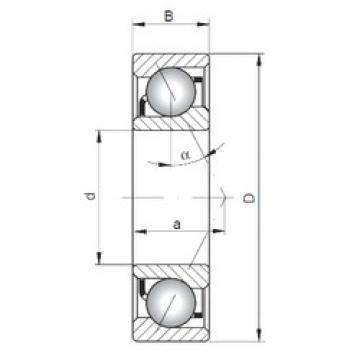110 mm x 150 mm x 20 mm  Loyal 71922 C angular contact ball bearings