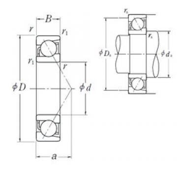 100 mm x 180 mm x 34 mm  NSK 7220 B angular contact ball bearings