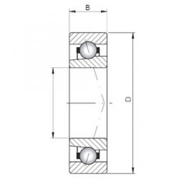 ISO 71811 C angular contact ball bearings
