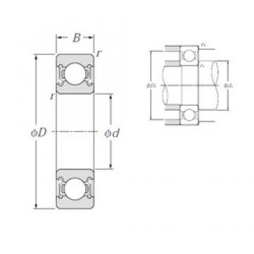 110 mm x 150 mm x 20 mm  NTN 6922LLB deep groove ball bearings