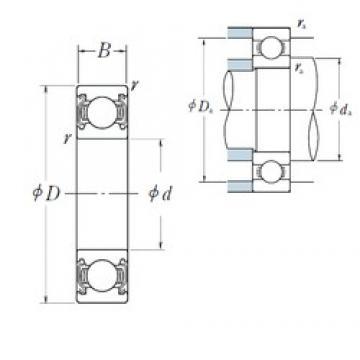 110 mm x 150 mm x 20 mm  NSK 6922ZZ deep groove ball bearings
