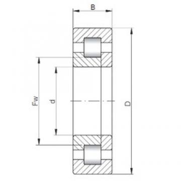 190 mm x 340 mm x 120 mm  ISO NUP3238 cylindrical roller bearings