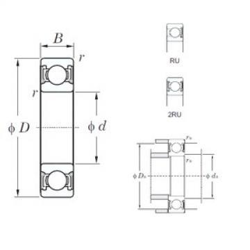 110 mm x 150 mm x 20 mm  KOYO 6922-2RU deep groove ball bearings