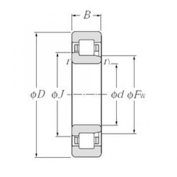100 mm x 180 mm x 34 mm  NTN NJ220E cylindrical roller bearings