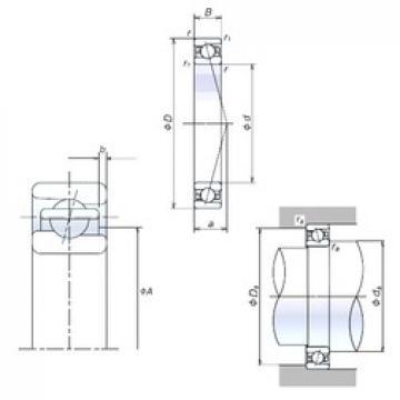 110 mm x 150 mm x 20 mm  NSK 110BER19H angular contact ball bearings