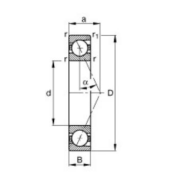 110 mm x 150 mm x 20 mm  FAG B71922-E-T-P4S angular contact ball bearings