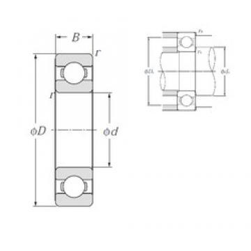 110 mm x 150 mm x 20 mm  NTN 6922 deep groove ball bearings