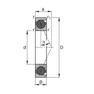 110 mm x 150 mm x 20 mm  FAG HCB71922-E-T-P4S angular contact ball bearings