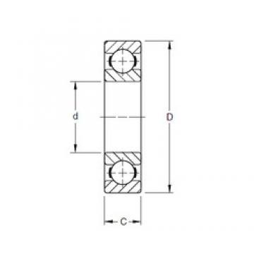 100 mm x 180 mm x 34 mm  Timken 220K deep groove ball bearings