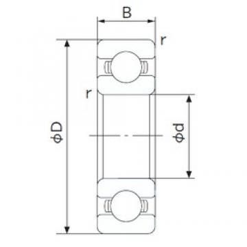 110 mm x 150 mm x 20 mm  NACHI 6922 deep groove ball bearings