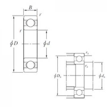 100 mm x 180 mm x 34 mm  KOYO 6220 deep groove ball bearings