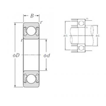 100 mm x 180 mm x 34 mm  NTN 6220ZZ deep groove ball bearings