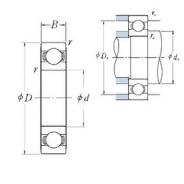 110 mm x 150 mm x 20 mm  NSK 6922 deep groove ball bearings
