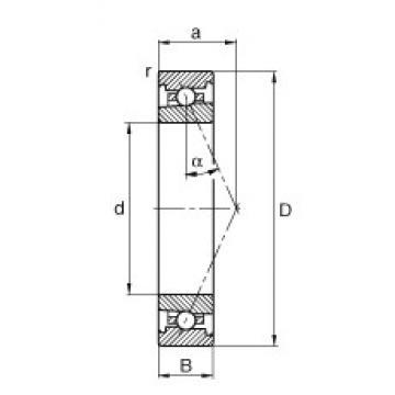 110 mm x 150 mm x 20 mm  FAG HS71922-E-T-P4S angular contact ball bearings