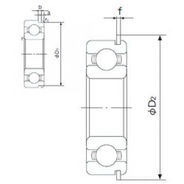 100 mm x 180 mm x 34 mm  NACHI 6220NR deep groove ball bearings