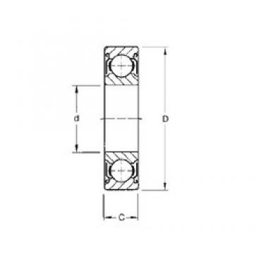 100 mm x 180 mm x 34 mm  CYSD 6220-ZZ deep groove ball bearings