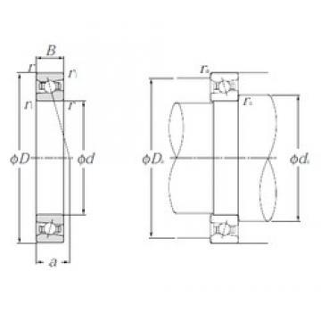 110 mm x 150 mm x 20 mm  NTN HSB922C angular contact ball bearings