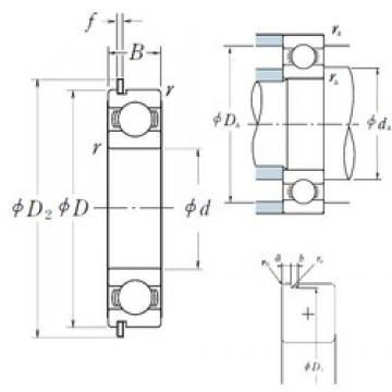 100 mm x 180 mm x 34 mm  NSK 6220NR deep groove ball bearings