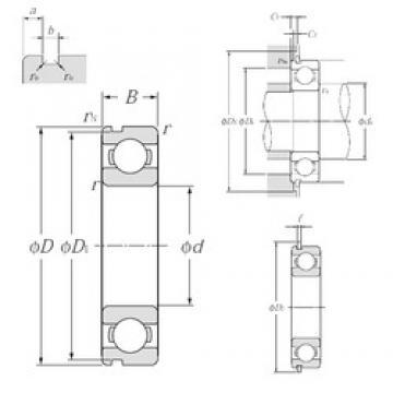 100 mm x 180 mm x 34 mm  NTN 6220NR deep groove ball bearings