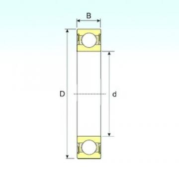 100 mm x 180 mm x 34 mm  ISB 6220-2RS deep groove ball bearings
