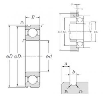 110 mm x 150 mm x 20 mm  NTN 6922N deep groove ball bearings