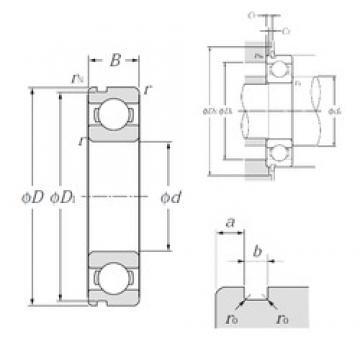55 mm x 72 mm x 9 mm  NTN 6811N deep groove ball bearings