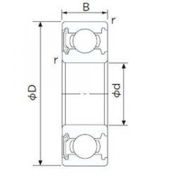 110 mm x 150 mm x 20 mm  CYSD 6922-RS deep groove ball bearings