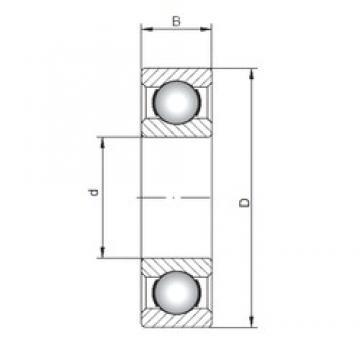 110 mm x 150 mm x 20 mm  Loyal 61922 deep groove ball bearings