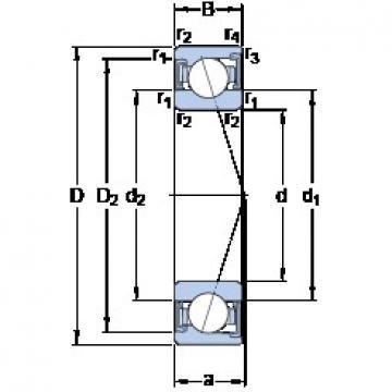 90 mm x 140 mm x 24 mm  SKF S7018 ACD/HCP4A angular contact ball bearings