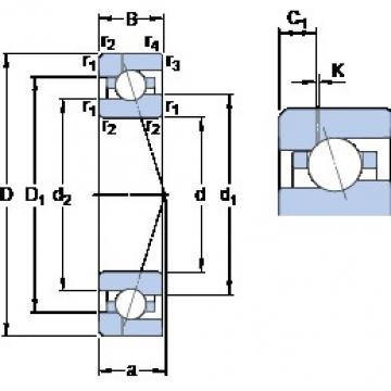 90 mm x 140 mm x 24 mm  SKF 7018 ACE/HCP4AH1 angular contact ball bearings
