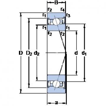 90 mm x 140 mm x 24 mm  SKF S7018 ACB/HCP4A angular contact ball bearings