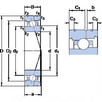 110 mm x 150 mm x 20 mm  SKF 71922 ACB/P4AL angular contact ball bearings