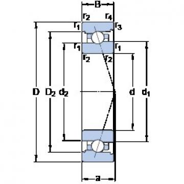 90 mm x 140 mm x 24 mm  SKF 7018 CB/P4A angular contact ball bearings