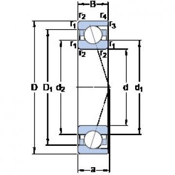 90 mm x 140 mm x 24 mm  SKF 7018 ACD/P4A angular contact ball bearings