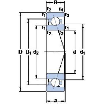 90 mm x 140 mm x 24 mm  SKF 7018 ACE/P4A angular contact ball bearings