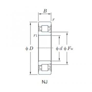 100 mm x 180 mm x 34 mm  KOYO NJ220 cylindrical roller bearings