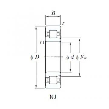 105 mm x 260 mm x 60 mm  KOYO NJ421 cylindrical roller bearings