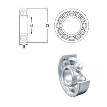 55 mm x 72 mm x 9 mm  ZEN 61811 deep groove ball bearings