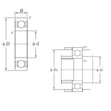 55 mm x 72 mm x 9 mm  KOYO 6811 deep groove ball bearings