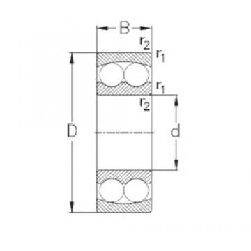 100 mm x 180 mm x 34 mm  NKE 1220 self aligning ball bearings