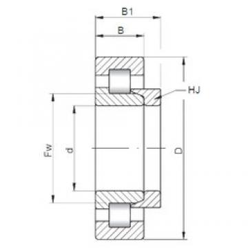 105 mm x 260 mm x 60 mm  Loyal NH421 cylindrical roller bearings