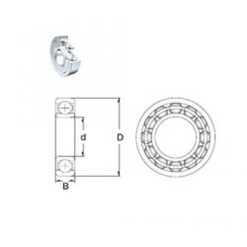 110 mm x 150 mm x 20 mm  ZEN 61922-2Z deep groove ball bearings